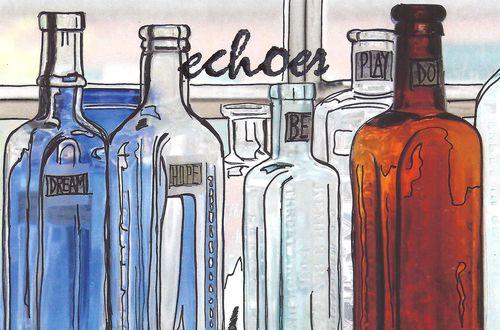 Bottles postcard