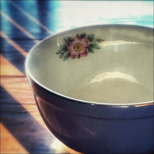 Bowl on table
