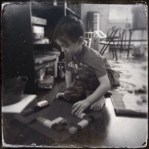 Alex with legos